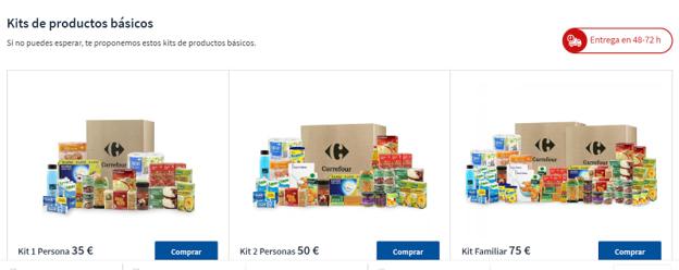 Los packs de alimentación de Carrefour facilitan el proceso de compra y la gestión del picking de los productos, mejorando los tiempos de sus envíos online.