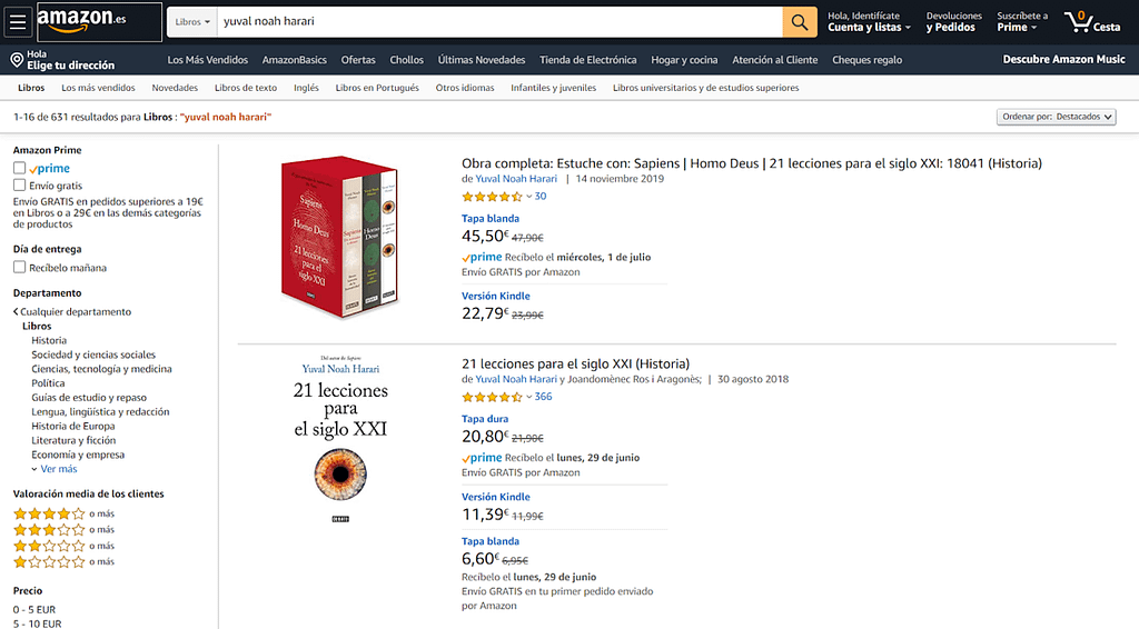 Example of the multiple paths in Amazon.com to find a specific product.